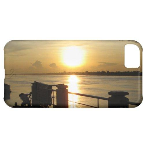 Mekong River Sunset ... Nong Khai, Isaan, Thailand iPhone 5C Cover