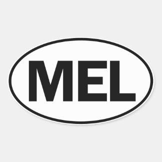 MEL Oval Identity Sign Oval Sticker