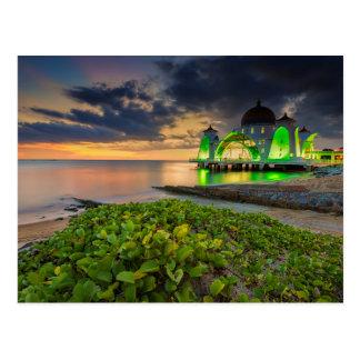 Melaka During Sunset | Masjid Selat Postcard