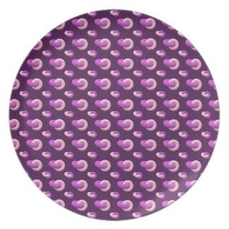 Melamine plate Donuts eggplant