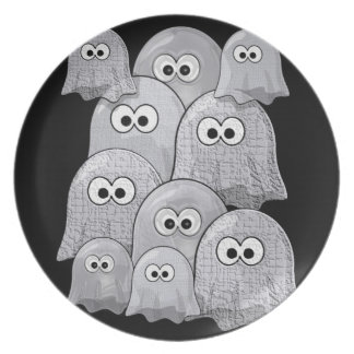 melamine plate ghosts halloweeen