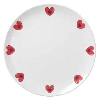 Melamine Plate - Hearts