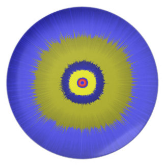 Melamine Plate multi colour by highsaltire