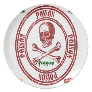 melamine plate poison