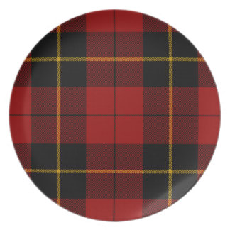 Melamine Plate red wallace tartan by highsaltire