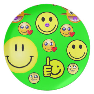 melamine plate smiley faces