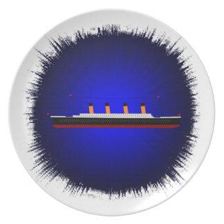 Melamine Plate titanic by highsaltire