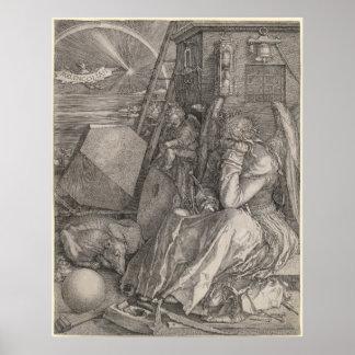 Melancholia I, Engraving by Albrecht Durer Print