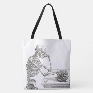 Melancholic Skeleton Tote Bag