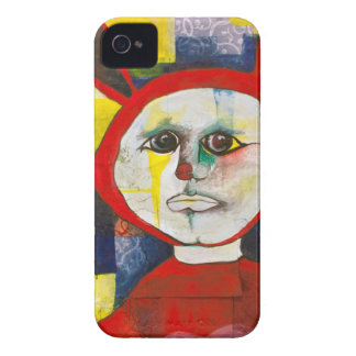 Melancholy Bunny Friend iPhone 4 Case-Mate Cases