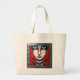 Melancholy Girl Jumbo Tote Bag