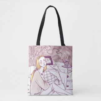 Melancholy Girl Tote Bag