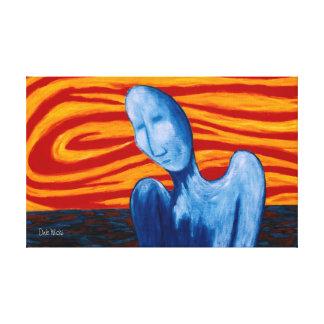 Melancholy Man Canvas Print