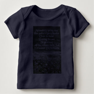 Melancholy Spring Day Poetry American Apparel Baby T-Shirt