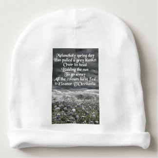 Melancholy Spring Day Poetry Baby Cotton Beanie Baby Beanie