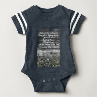 Melancholy Spring Day Poetry Baby Football Baby Bodysuit