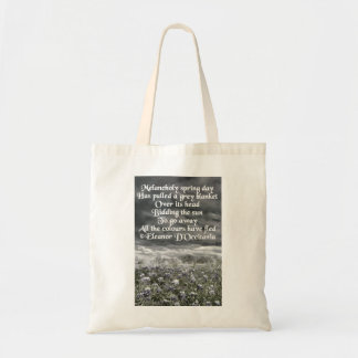 Melancholy Spring Day Poetry Budget Tote