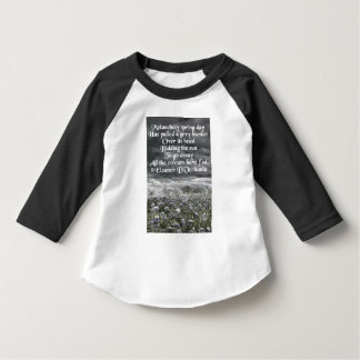 Melancholy Spring Day Poetry Toddler 3/4 Sleeve T-Shirt