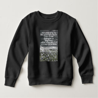 Melancholy Spring Day Poetry Toddler Fleece Sweatshirt