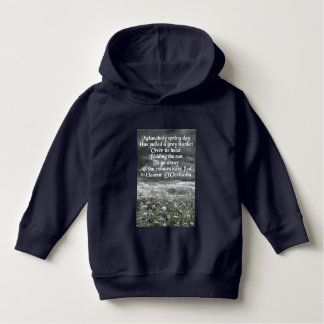 Melancholy Spring Day Poetry Toddler Hoodie