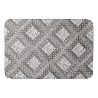 Melange-Abstract Geometric Doodle Pattern Bath Mat