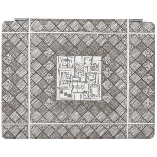 Melange-Abstract Geometric Doodle Pattern iPad Smart Cover