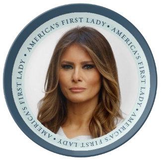 Melania TRUMP First Lady Plate Porcelain Plates