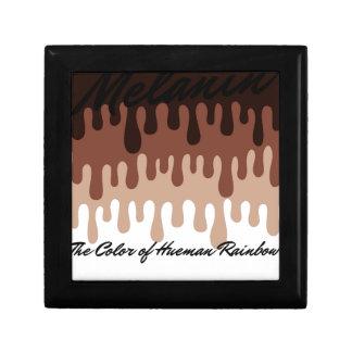 Melanic Melanin Rainbow Small Square Gift Box