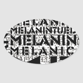 Melanic Tees Concrete Jungle Coolection Oval Sticker
