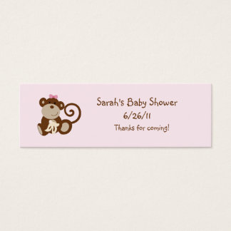 Melanie Monkey Girl Favor/Tags Mini Business Card