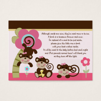 Melanie Monkey Girl Favor/Tags So Cute! Business Card