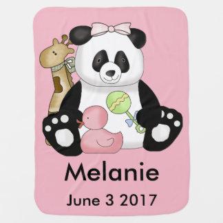 Melanie's Personalized Panda Baby Blanket