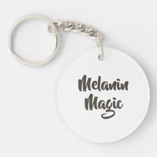 Melanin Magic Script Keychain