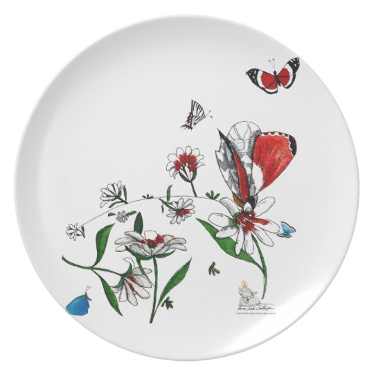 Melanine plate, full of life colors and beauty. plate