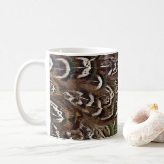 Melanistic Pheasant Feather Detail Coffee Mug