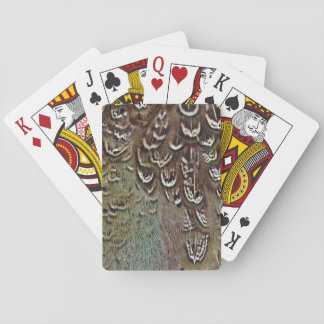 Melanistic Pheasant Feather Detail Playing Cards