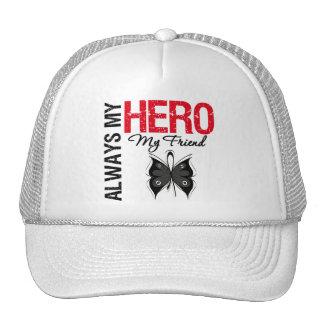 Melanoma Always My Hero My Friend Mesh Hats