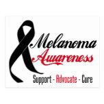 Melanoma Awareness Ribbon Postcards