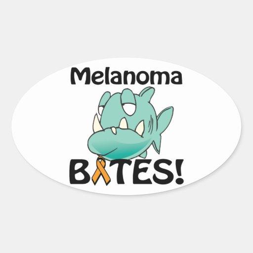Melanoma BITES (orange) Stickers