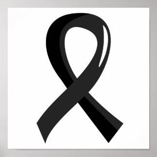 Melanoma Black Ribbon 3 Posters