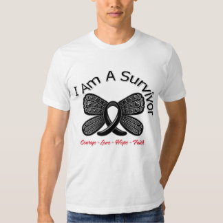 Melanoma Butterfly I Am A Survivor Tee Shirts