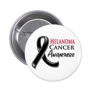 Melanoma Cancer Awareness Ribbon 6 Cm Round Badge
