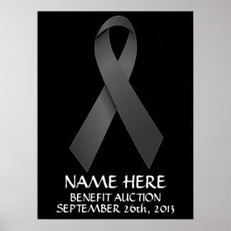 Melanoma Cancer Benefit Auction Ribbon Poster