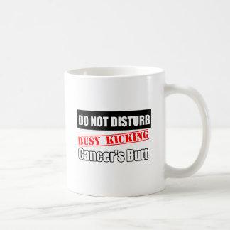 Melanoma Cancer Do Not Disturb Kicking Butt Classic White Coffee Mug