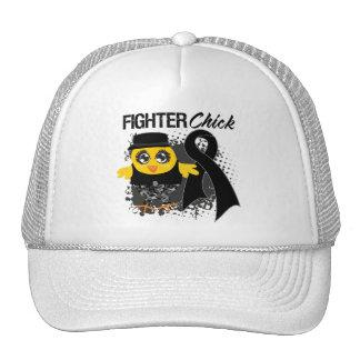 Melanoma Cancer Fighter Chick Grunge Mesh Hats
