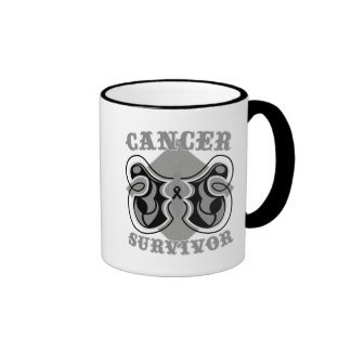 Melanoma Cancer Survivor Butterfly Ringer Mug