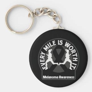Melanoma Every Mile Is Worth It Keychain