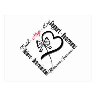 Melanoma Faith Hope Love Butterfly Postcard