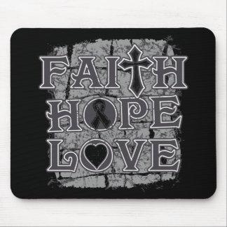 Melanoma Faith Hope Love Mouse Pads