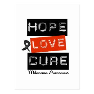 Melanoma Hope Love Cure Postcard